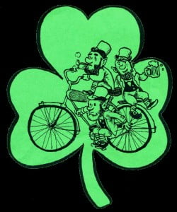 Bike of the Irish annual ride 2014 celebrates bicycling advancements and springtime.