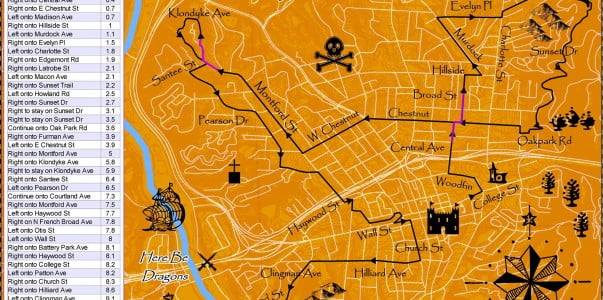 Pumpkin Pedaller '14 Route