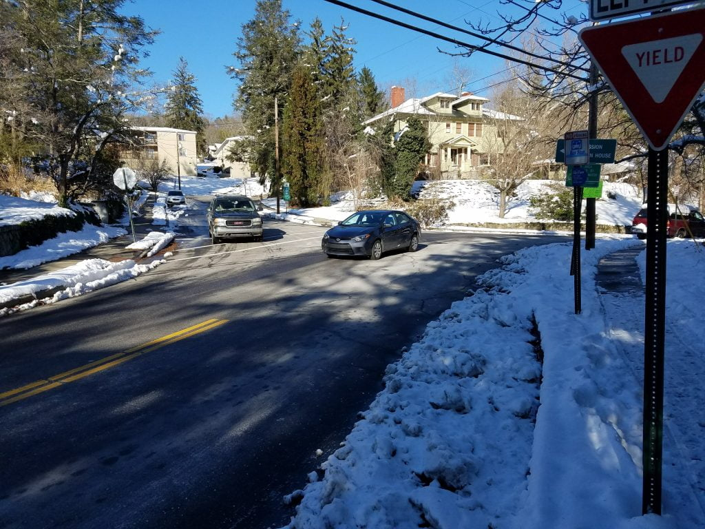 Sneckdown in Kenilworth at Forest Hill Dr and Sherwood