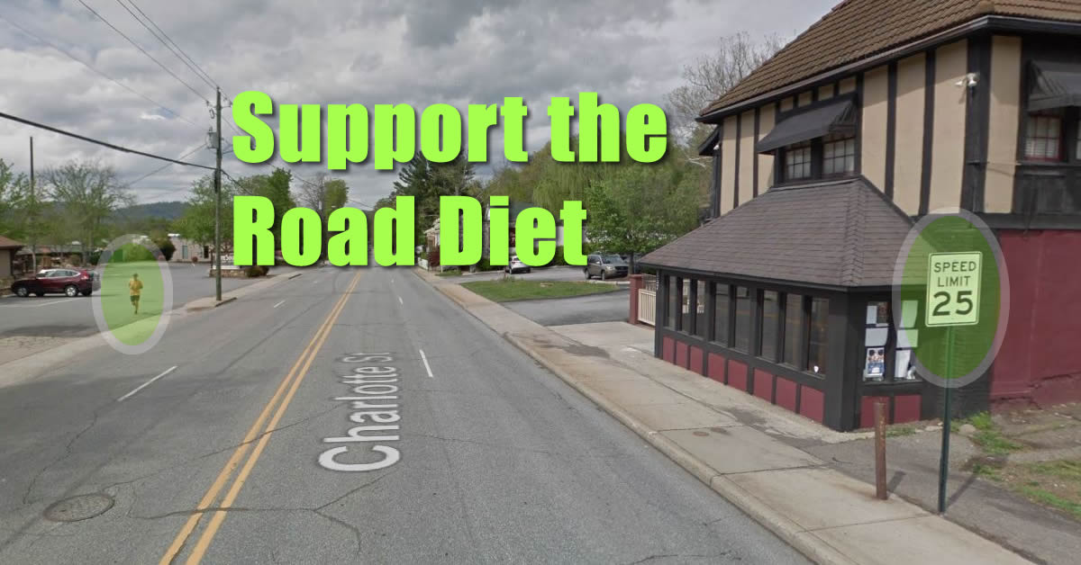 Support the Charlotte St Road Diet in Asheville, NC