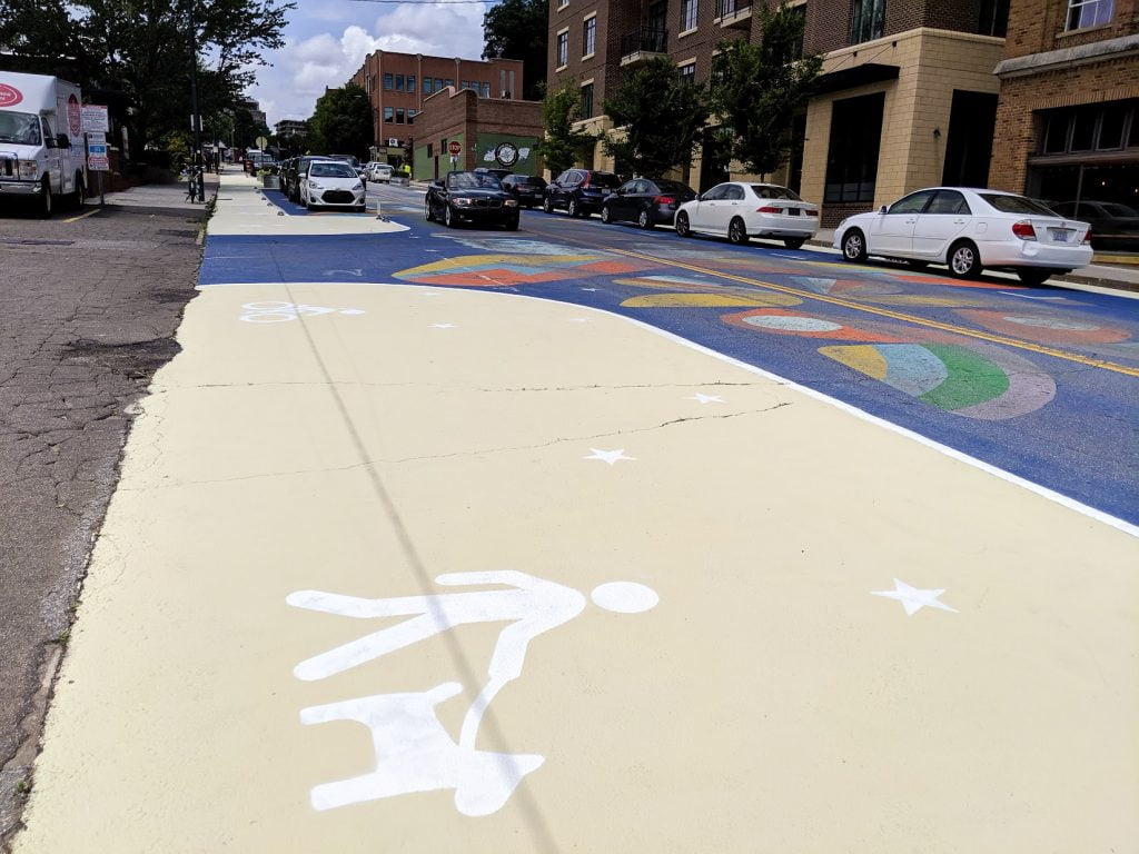 Summer 2019 new paint on Coxe Ave