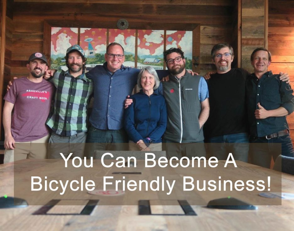 Attendees at a Bike Friendly Business Breakdown meeting