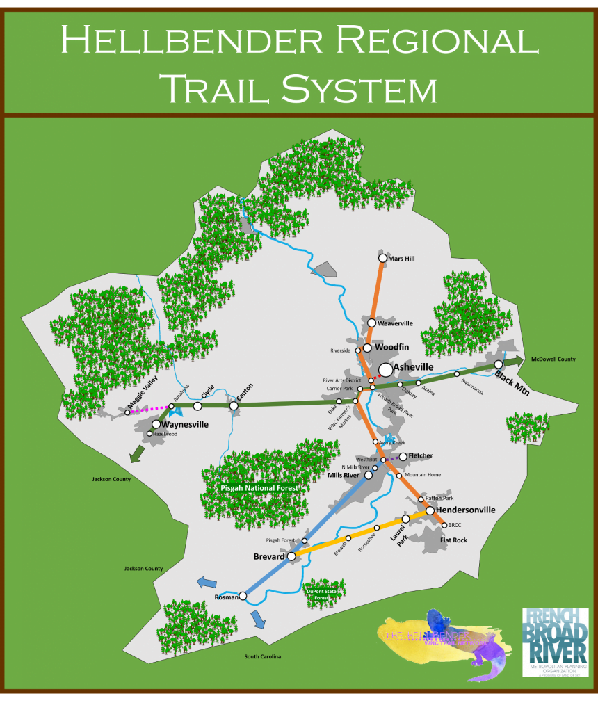 Draft Hellbender Trail network map
