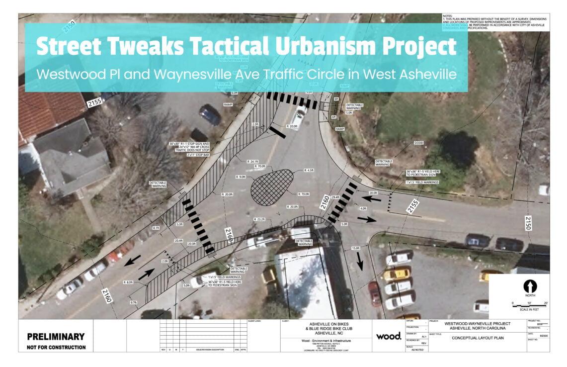 Final plan for Street Tweaks Tactical Urbanism Project