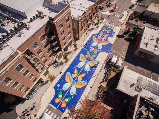 Thr Coxe Avenue project street art tactical urbanism
