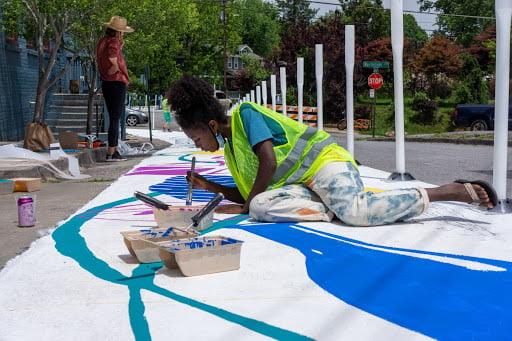 Street Tweaks volunteer for the West Wayne Project